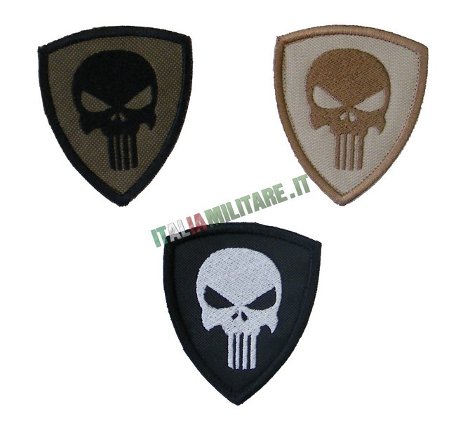 Patch Punisher Scudetto Vari Colori