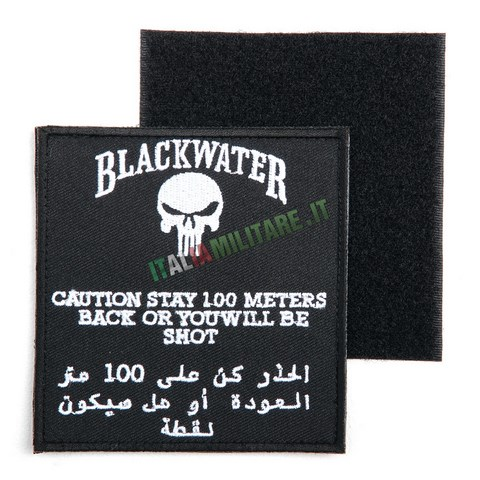 Patch Blackwater Contractor 100 MT OR YOU'LL BE SHOT