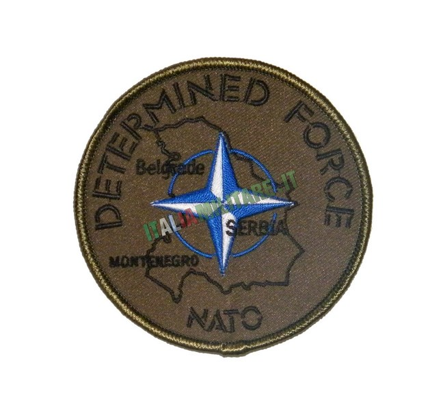 Patch Missione NATO Determined Force Serbia Montenegro Belgrado
