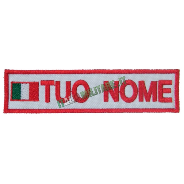 Patch Personalizzata Bandiera Nome Gruppo - Bianca