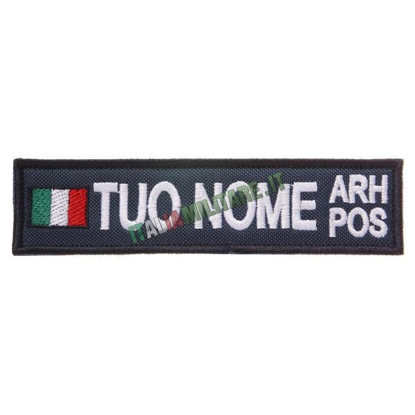 Patch Personalizzata Bandiera Nome Gruppo - Blu