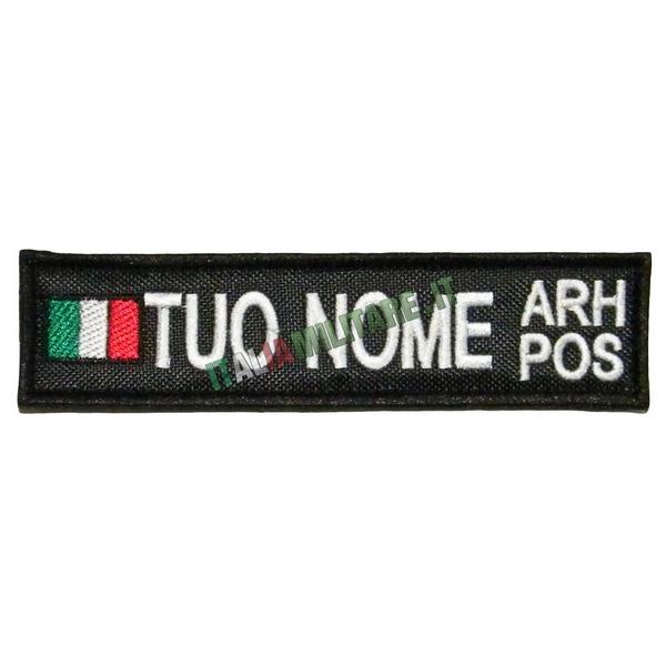 Patch Personalizzata Bandiera Nome Gruppo - Nera