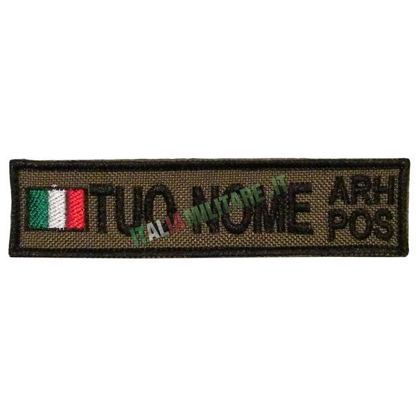 Patch Personalizzata Bandiera Nome Gruppo - Verde