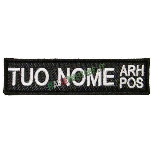 Patch Personalizzata Nome Gruppo - Nera