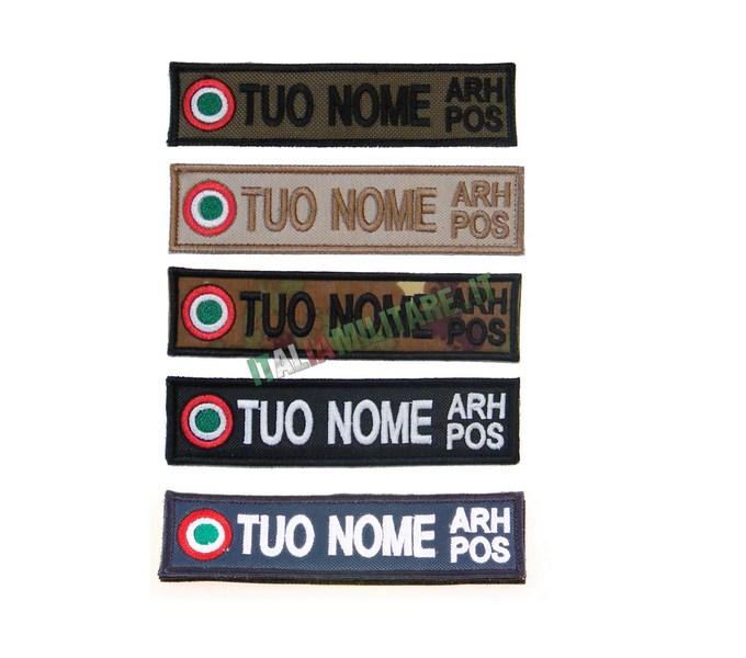 Patch Personalizzata Aeronautica Nome e GrRh