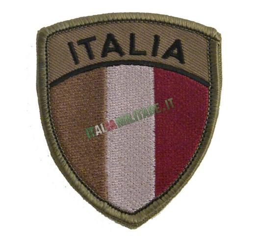 Patch Scudetto ITALIA Bandiera Militare Verde