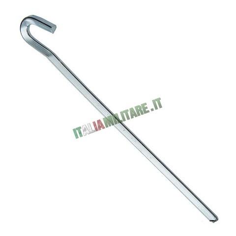 Picchetti in Metallo per Tenda Spessi a Uncino da 23 Cm