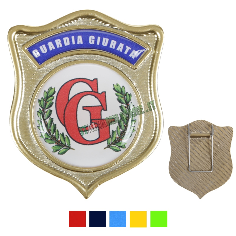 Distintivo Guardia Giurata in Metallo