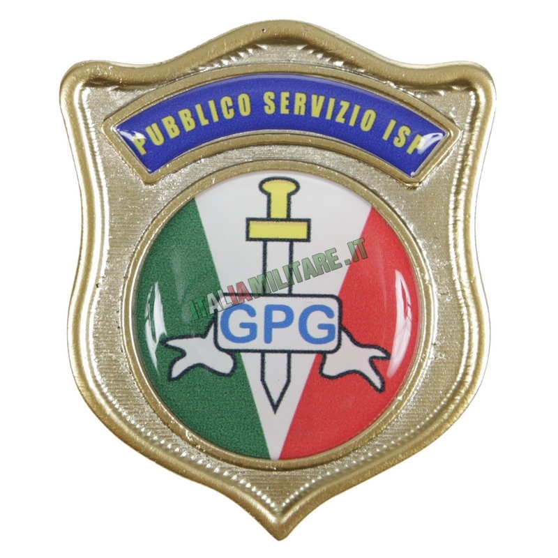 Distintivo Guardia Giurata GPG in Metallo