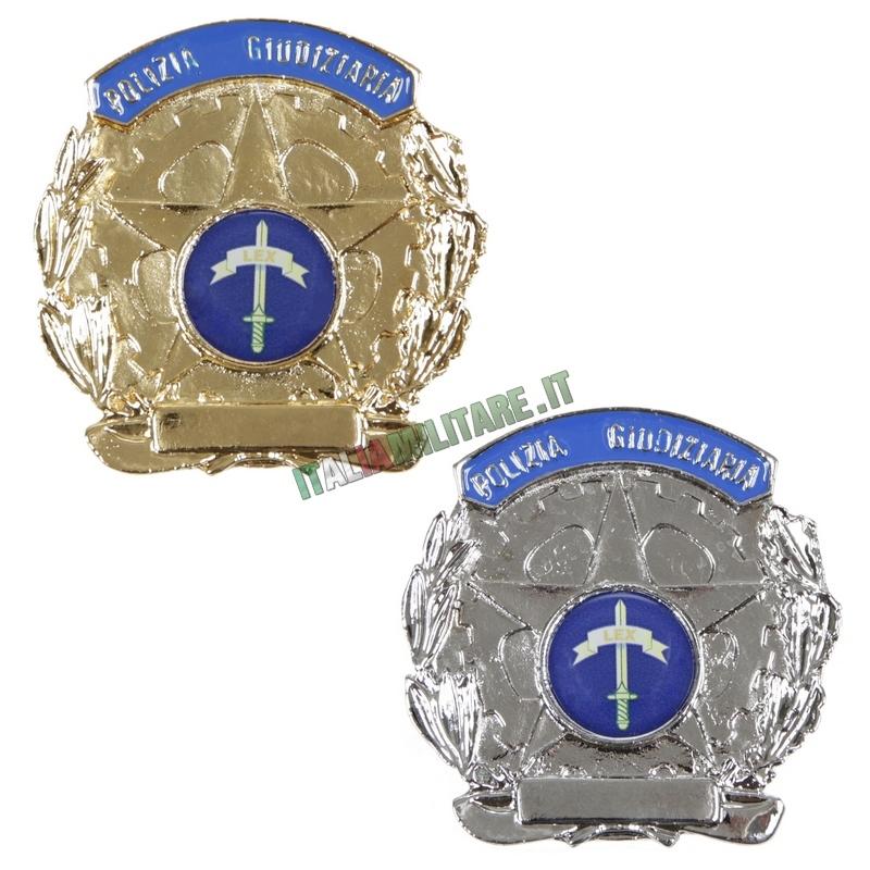 Distintivo Polizia Giudiziaria in Metallo