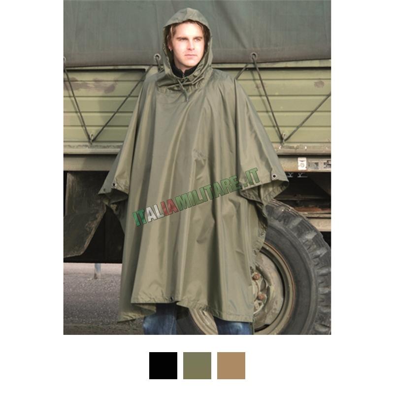 Poncho 3 in 1 Militare Antipioggia Antistrappo