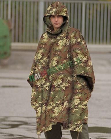 Poncho 3 in 1 Militare Antipioggia Antistrappo Vegetato