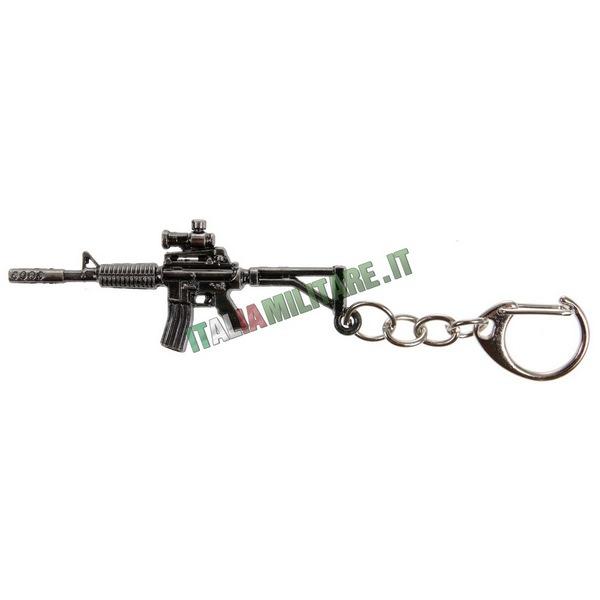 Portachiavi Fucile M4 in Metallo