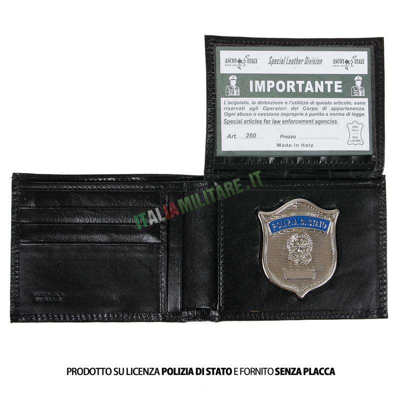 Portafoglio Porta Distintivo Occultato Polizia di Stato Ascot 260