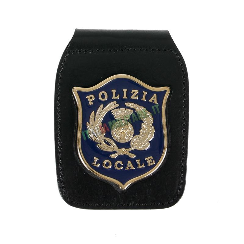 Porta Distintivo Da Cintura e Collo Polizia Locale Ascot 604