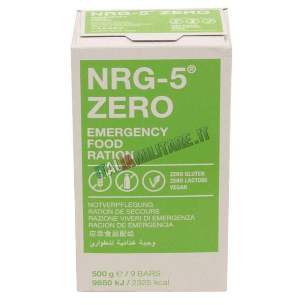 Razione Alimentare di Emergenza NRG5 ZERO Gluten Free e Vegano