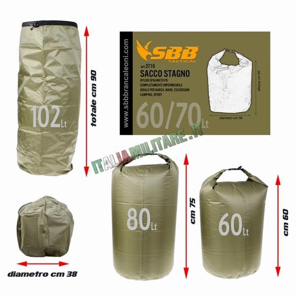 Sacco Stagno SBB 60 70 Litri Impermeabile