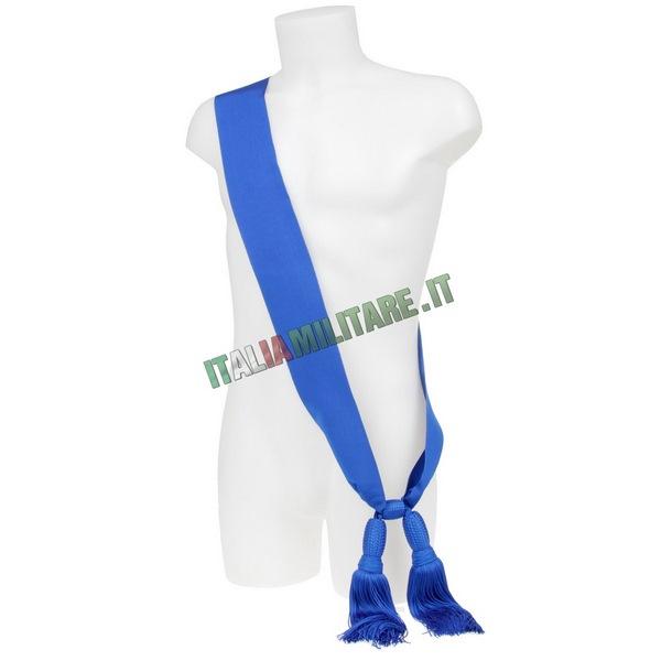 Fascia Sciarpa Blu da Ufficiale