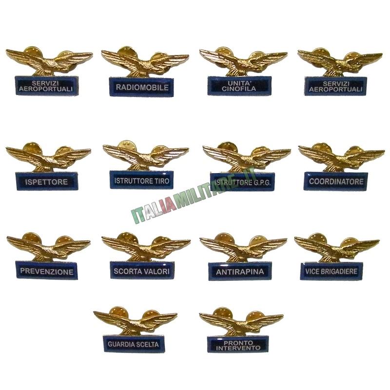 Spilla Distintivo Guardie Giurate Varie Specialità Blu