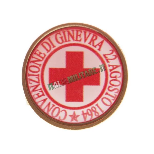 Spilla da Giacca Croce Rossa Convenzione di Ginevra