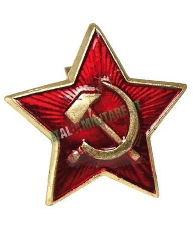 Spilla Russa Originale Stella Rossa Falce e Martello