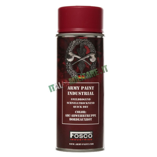 Vernice Militare Spray da 400 ml Bourdeaux Tedesco
