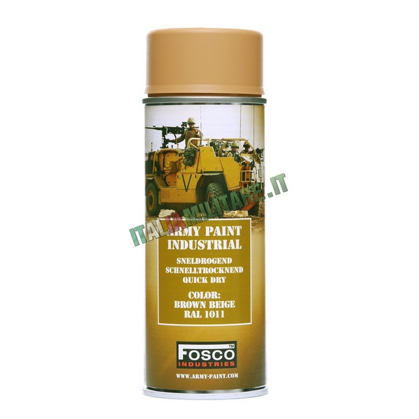 Vernice Militare Spray da 400 ml Brown Beige