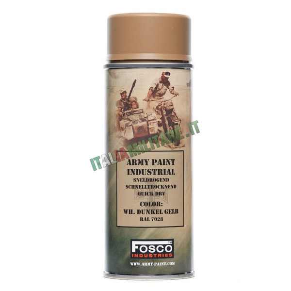 Vernice Militare Spray da 400 ml Sabbia Tedesco - Dunkel Gelb