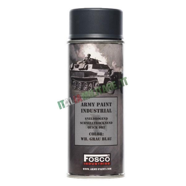 Vernice Militare Spray da 400 ml Grigio Blu Tedesco - Grau Blau