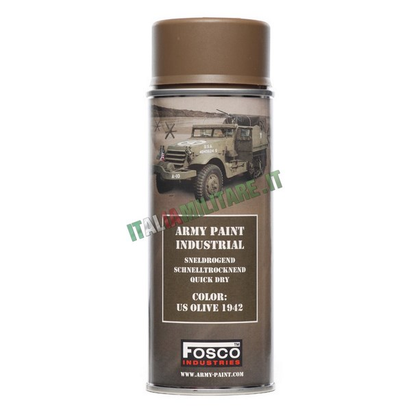 Vernice Militare Spray da 400 ml Verde Americano - US Olive 1942