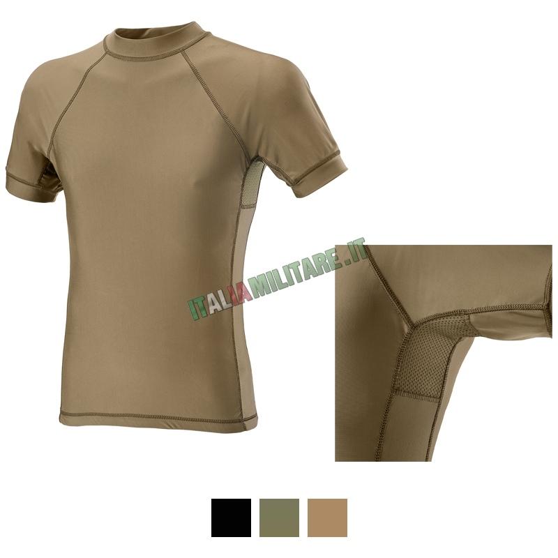 T-shirt Defcon 5 in Lycra + Mesh Manica Corta