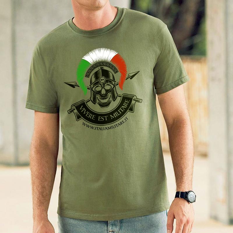 """T-Shirt """"Vivere Est Militare"""" - La Vita è Una Guerra"""