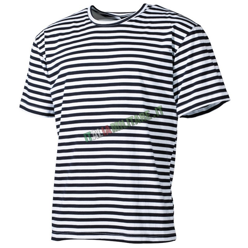 T-Shirt da Marinaio Russo a Righe