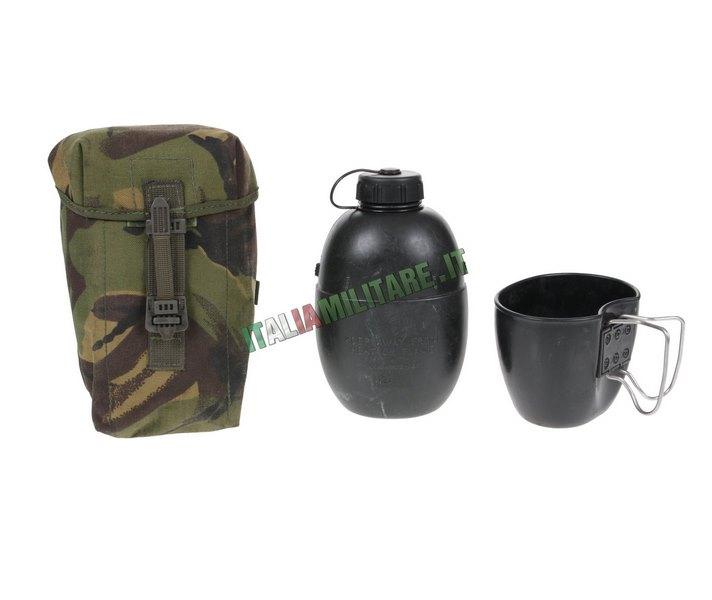 Borraccia con Tasca DPM Militare Inglese Originale