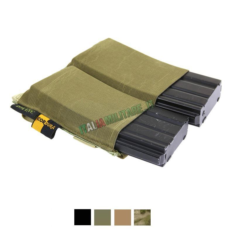 Tasca Elastica in Cordura Porta 2 Caricatori Fucile