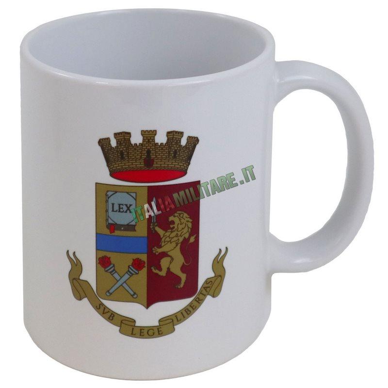 Tazza Polizia di Stato Araldica