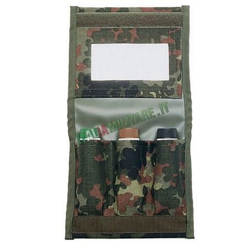 Tasca Militare Porta Trucco e Specchietto Flecktarn