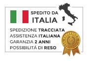 Prodotto spedito dall'Italia con spedizione tracciata, garanzia 2 anni e assistenza italiana